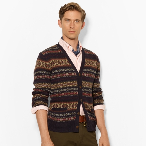 Lyst - Polo ralph lauren Fair Isle Vneck Cardigan for Men