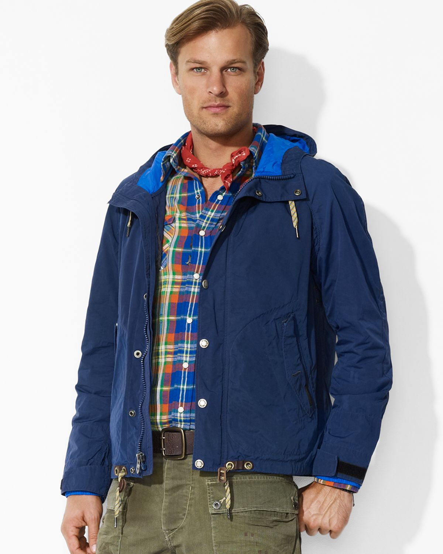 Men Treeline Anorak Jacket Blue Ralph Polo Lauren For PikXuOZ