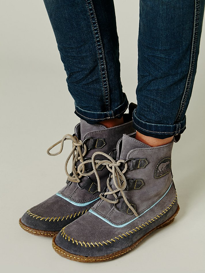 Sorel Joplin Stitch Boot In Grey Gray Lyst