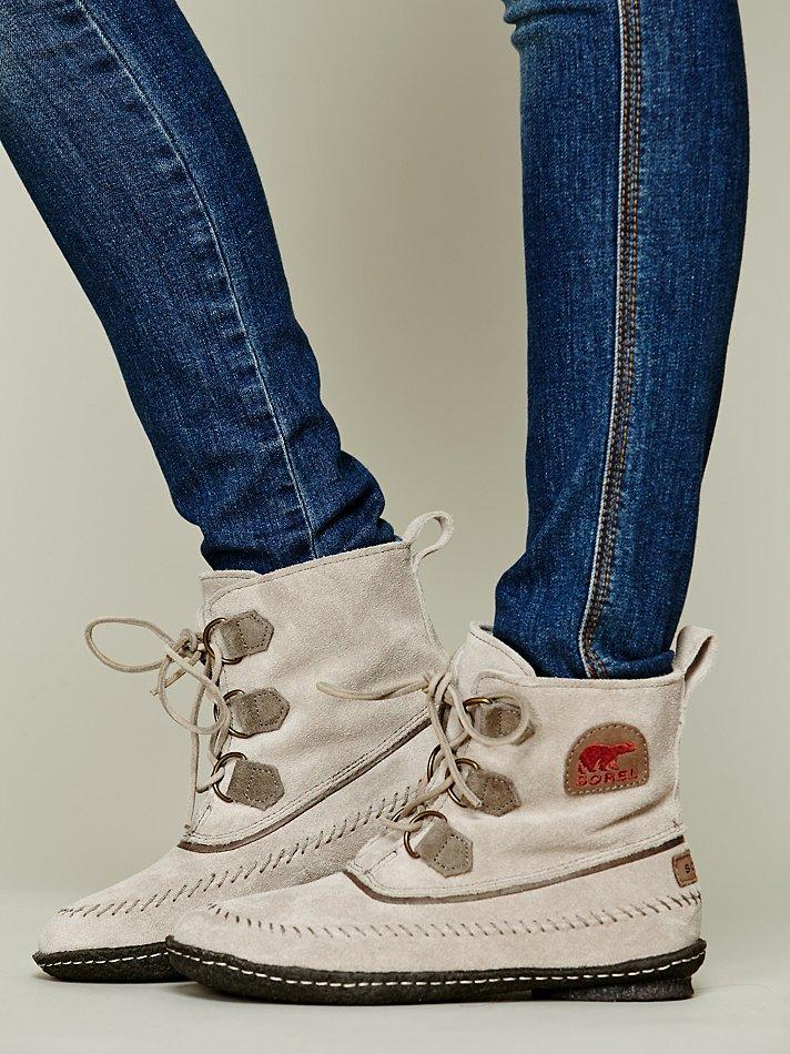Sorel Joplin Stitch Boot In Silver Natural Lyst
