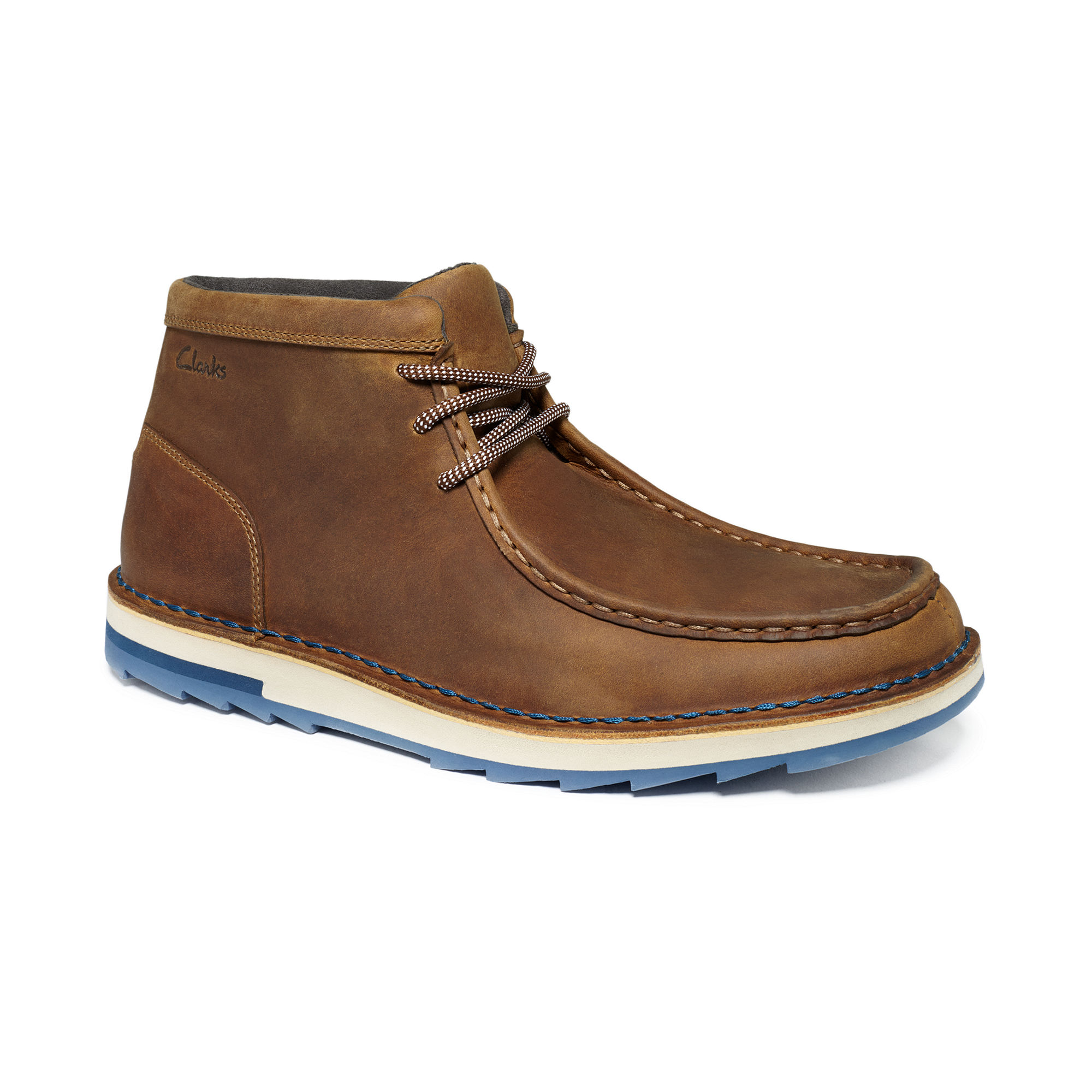 clarks mumford folk chukka boots in brown for lyst