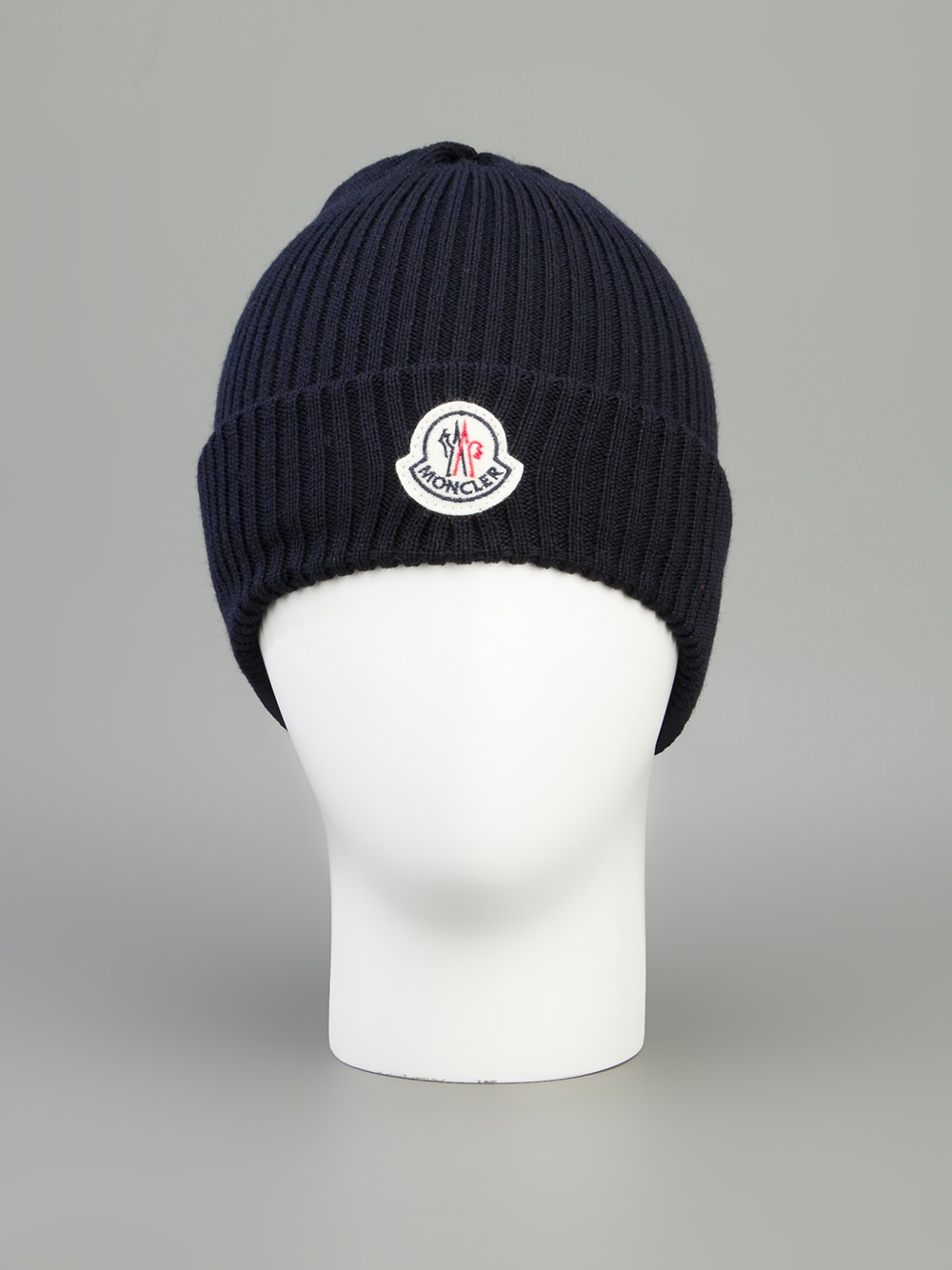 Lyst - Moncler Branded Beanie Hat in Blue for Men 9db15992eec