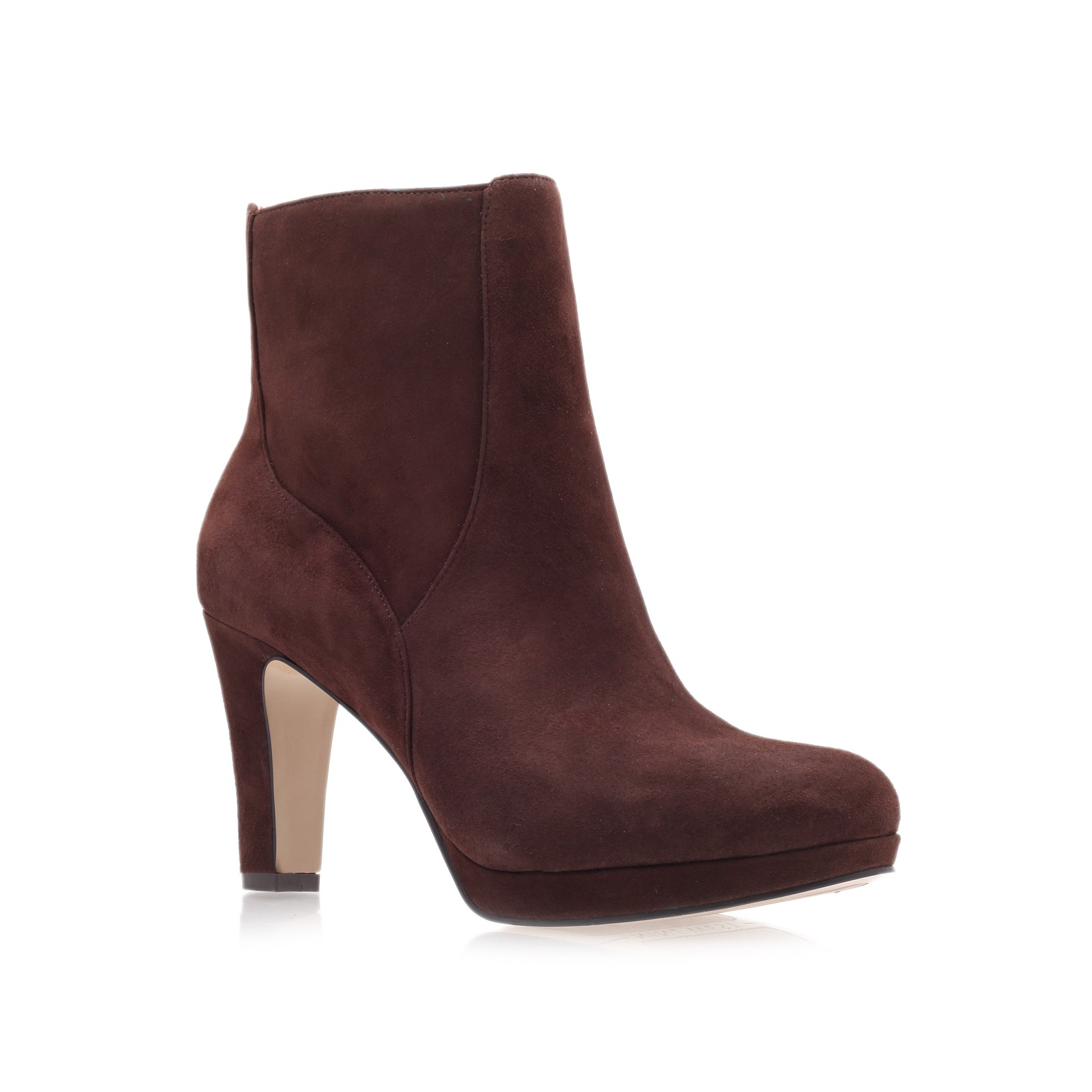 nine west pook ankle boots in brown lyst