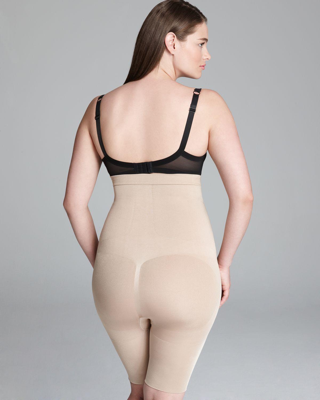 Striped plus size spanx