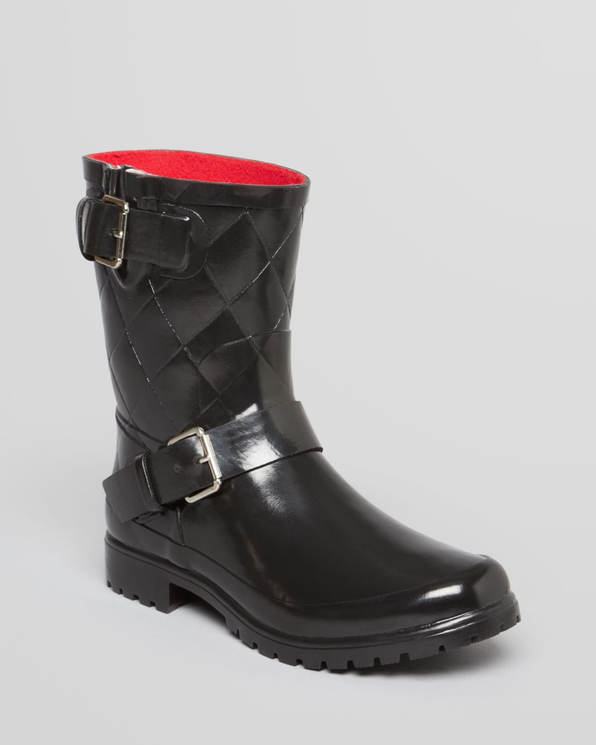 Sperry top-sider Moto Rain Boots Falcon Quilted in Black | Lyst