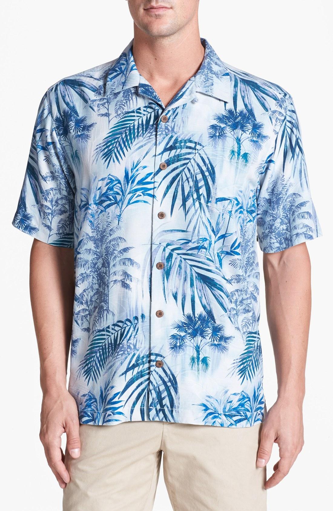 Tommy bahama men 39 s island luau silk short sleeve shirt a for Tommy bahama short sleeve silk camp shirt