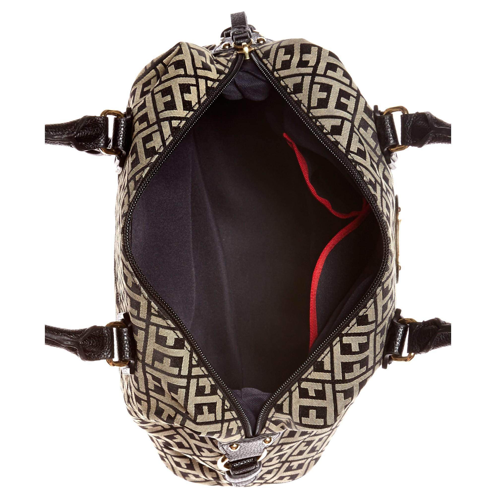 e3ad5d5d809d Tommy Hilfiger Black Keepsake Signature Jacquard Bowler Bag