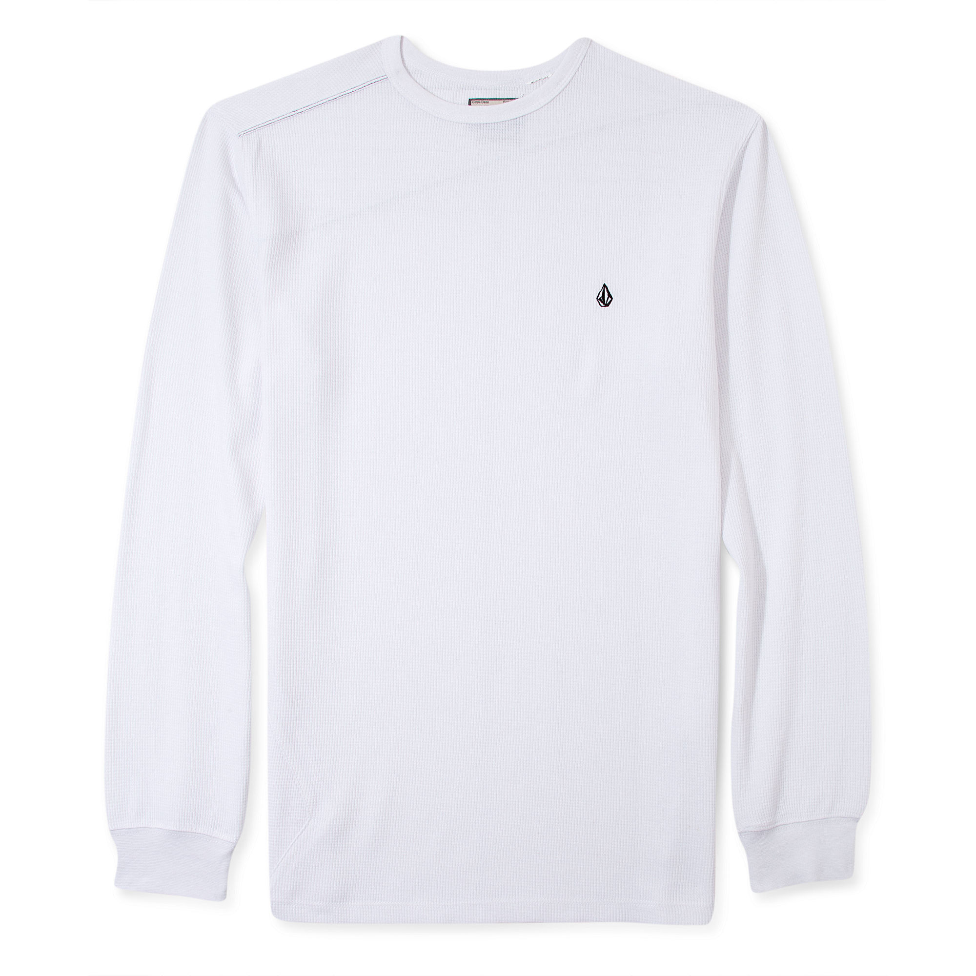 Volcom Schmasic Thermal Long Sleeve Shirt In White For Men