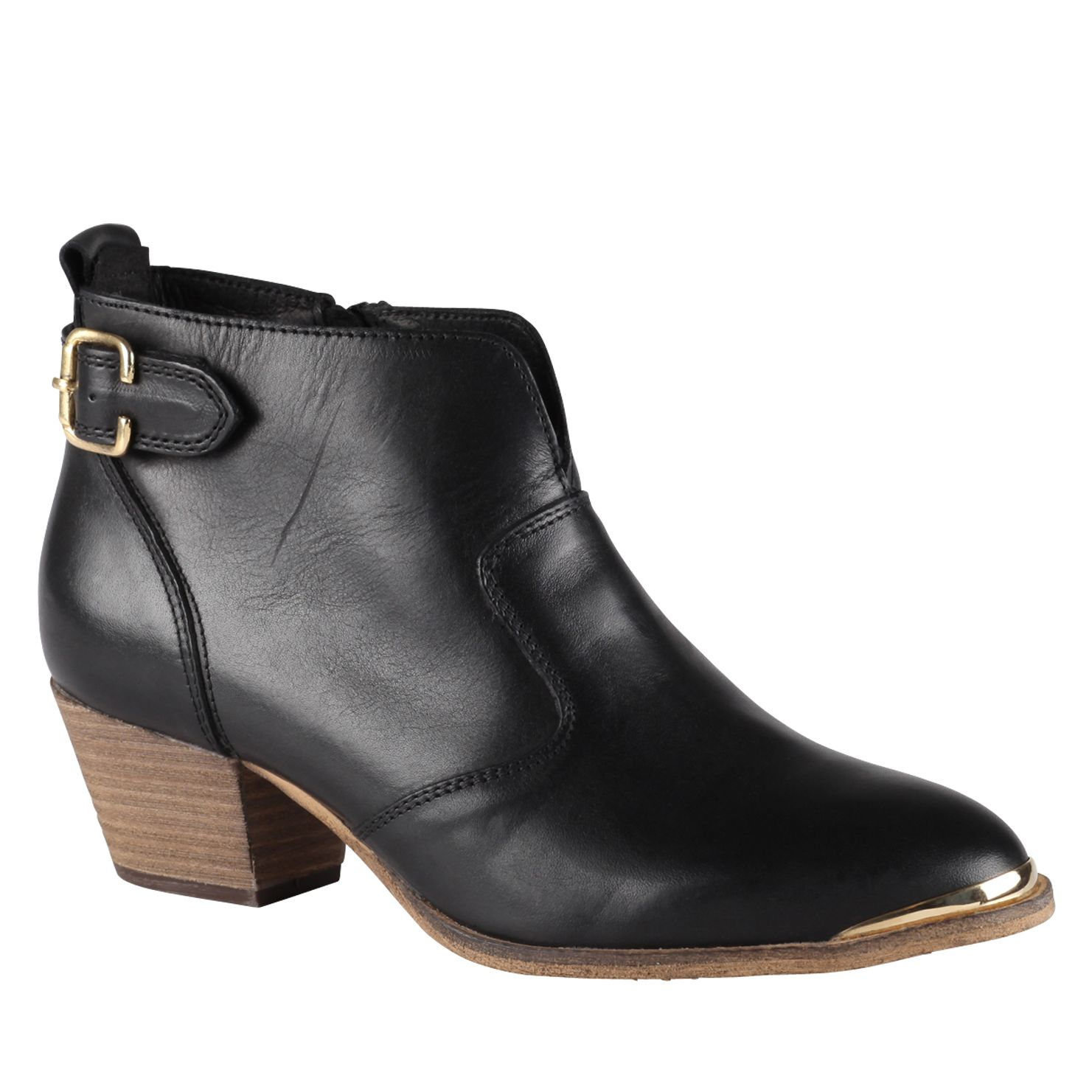 aldo cham leather ankle boots in black lyst