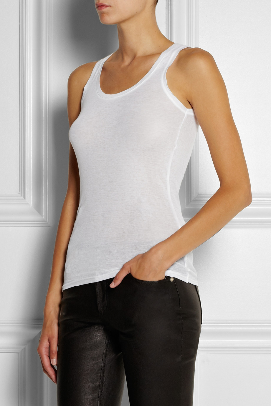 american vintage massachusetts sleeved top in white