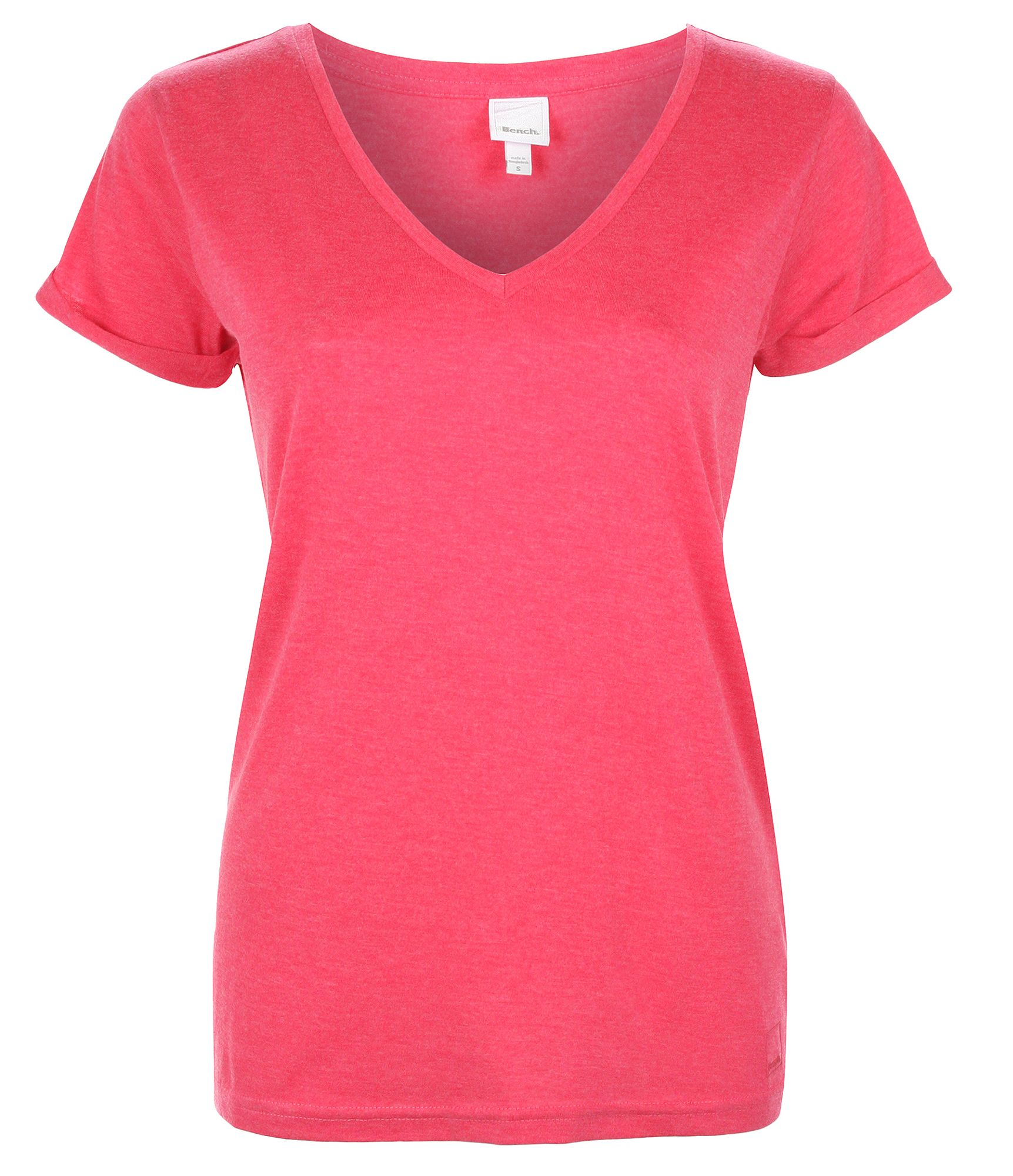 bench womens the v tee v neck t shirt in pink lyst. Black Bedroom Furniture Sets. Home Design Ideas