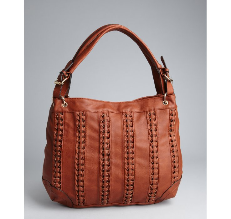 Big buddha Cognac Faux Leather Braided Oversize Granada Hobo Bag ...