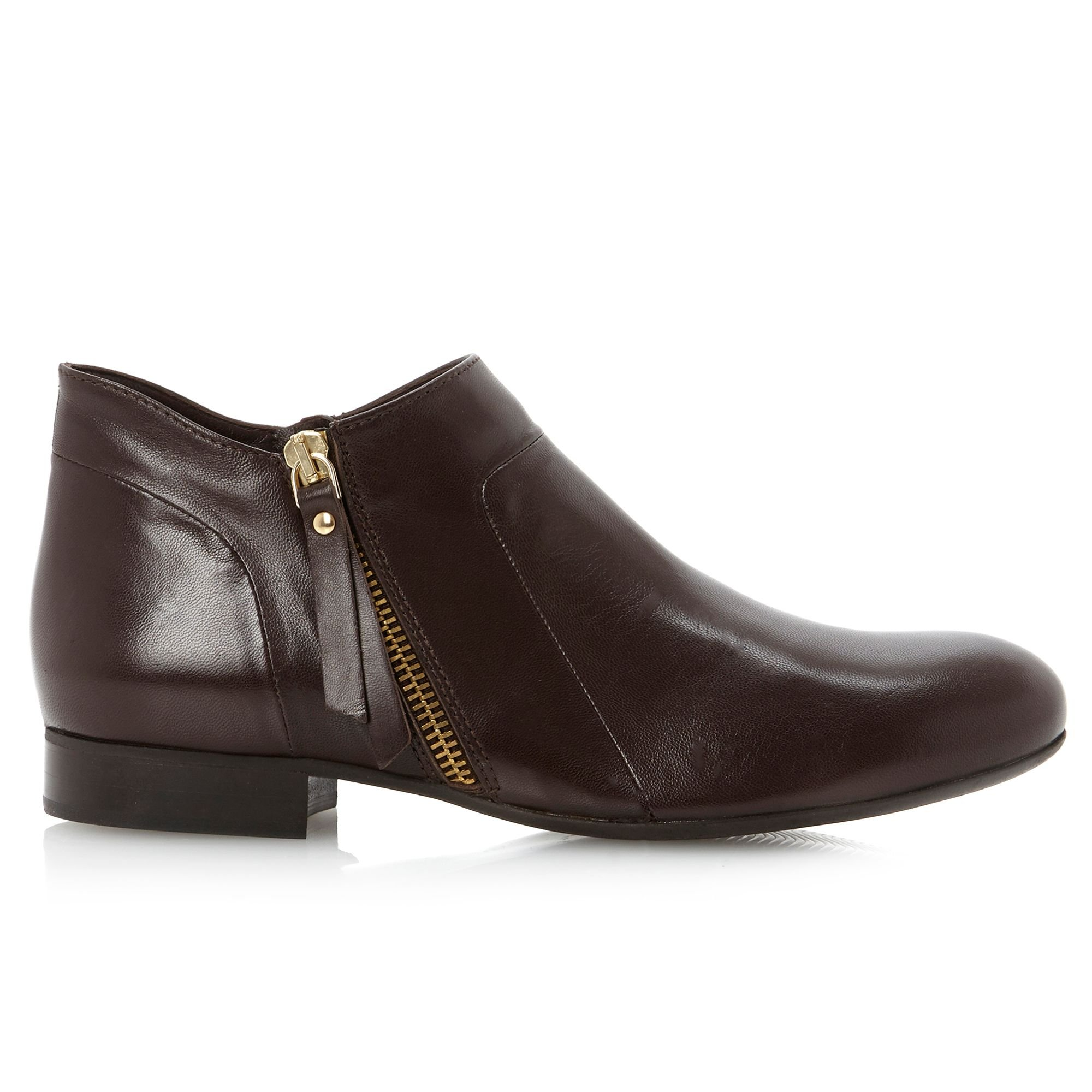 Dune Black Pringle Cropped Shoe Boots in Brown
