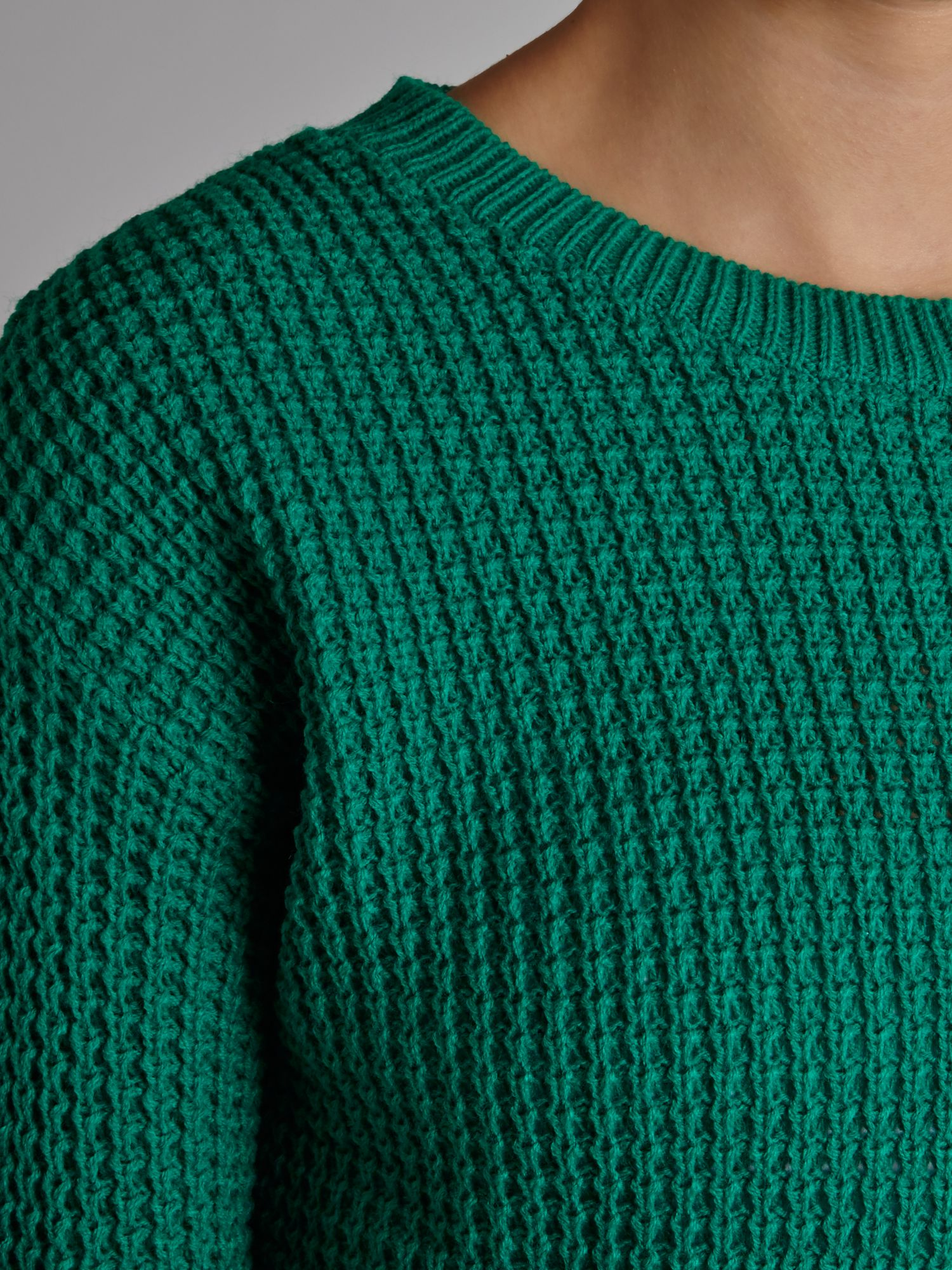 Glamorous Long Sleeved Knit Jumper In Green Lyst