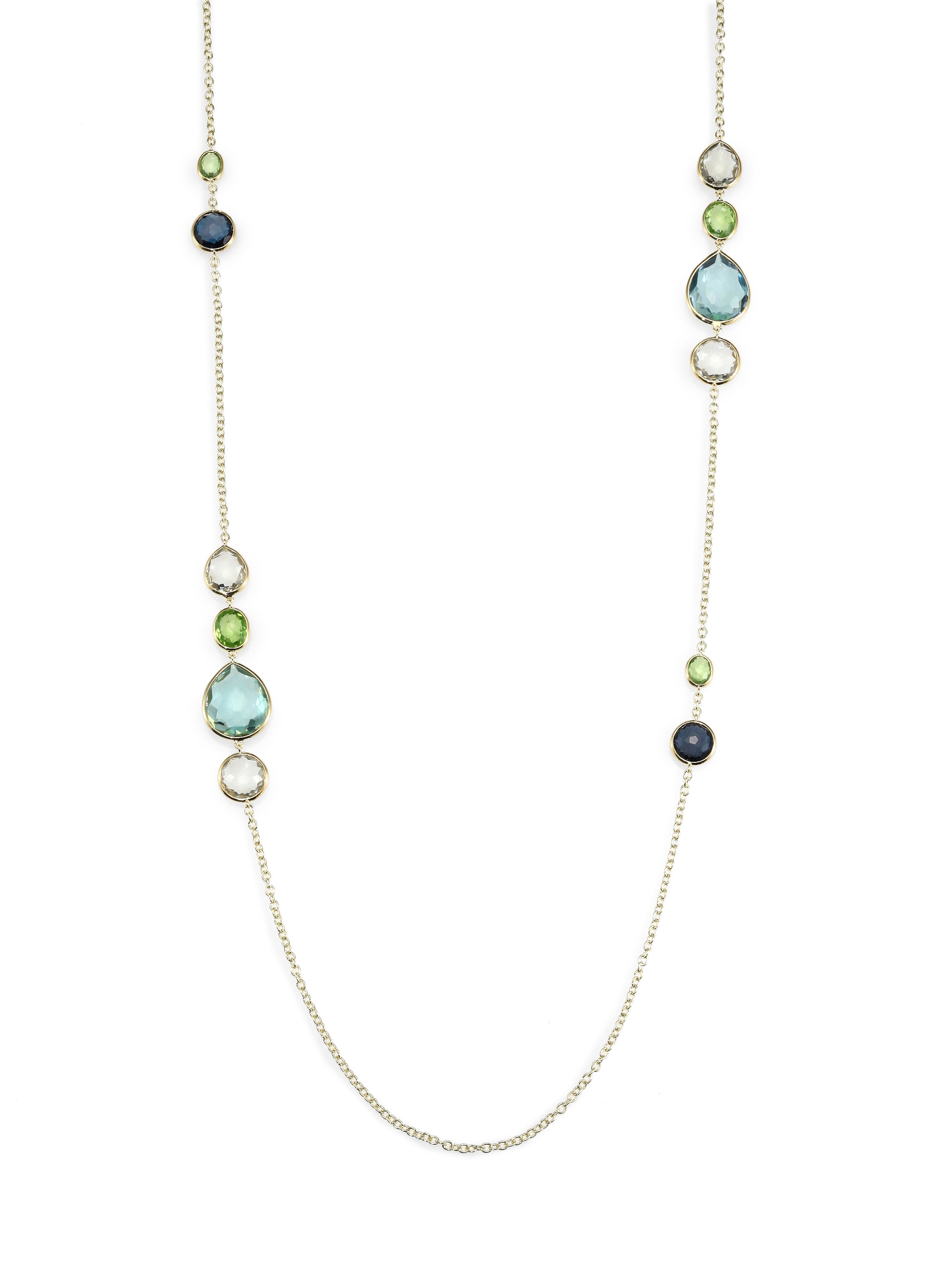 Ippolita Multi Gemstone and 18k Yellow Gold Long Necklace