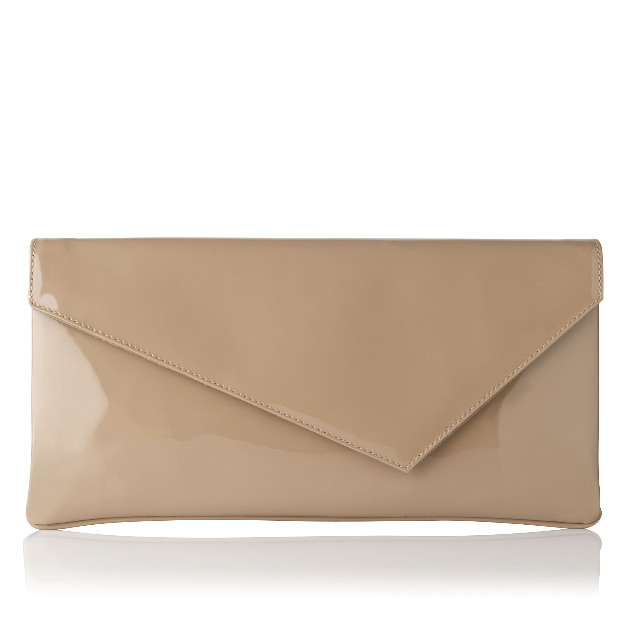 L leonie taupe patent assymetric clutch bag in beige taupe lyst - Beige slaapkamer taupe ...