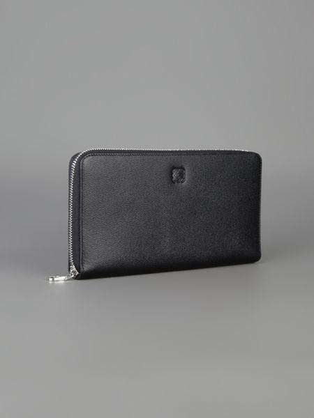 Loewe Large Zip Around Wallet In Black For Men Lyst
