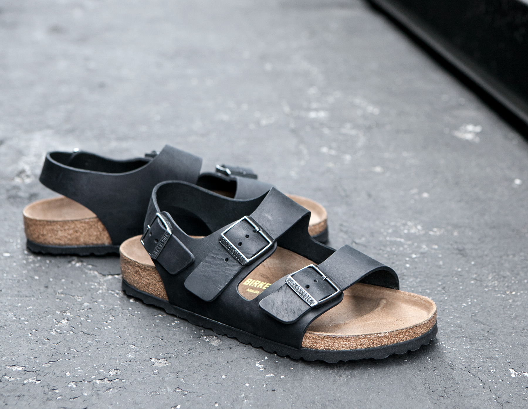 f1008a04e Lyst - James Perse Birkenstock Mens Milano Oiled Leather Sandal in ...