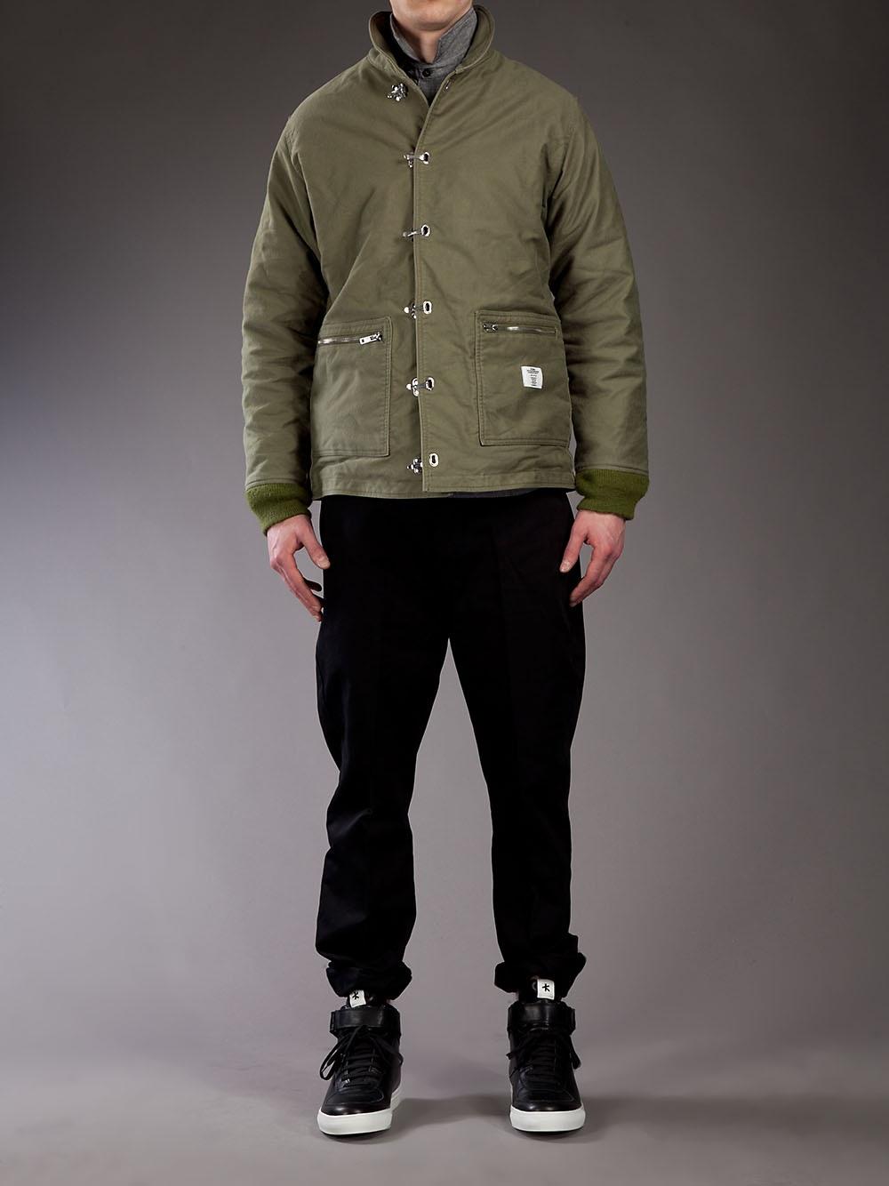 Bedwin And The Heartbreakers Hook Fastening Jacket in Green for Men