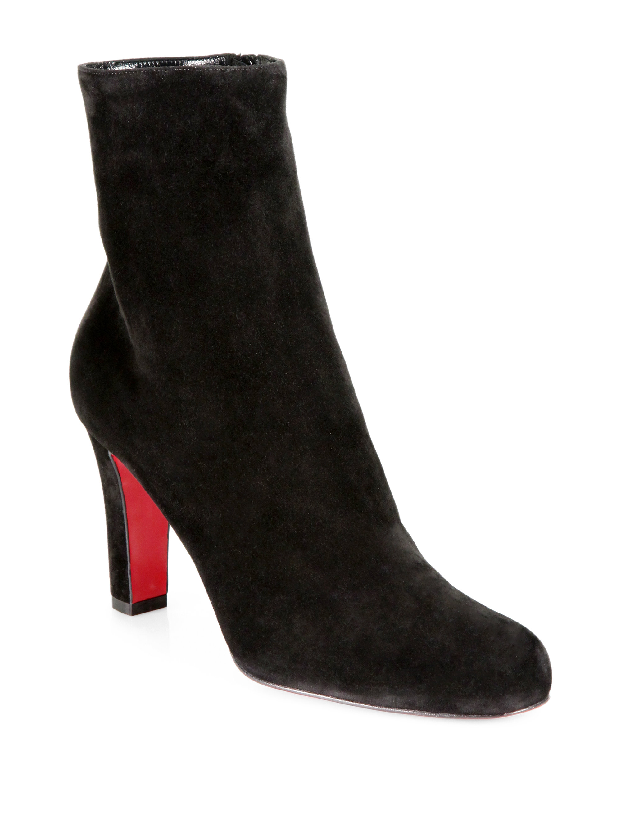 christian louboutin replicas men - Christian louboutin Unique 140 Leather Boots in Black | Lyst