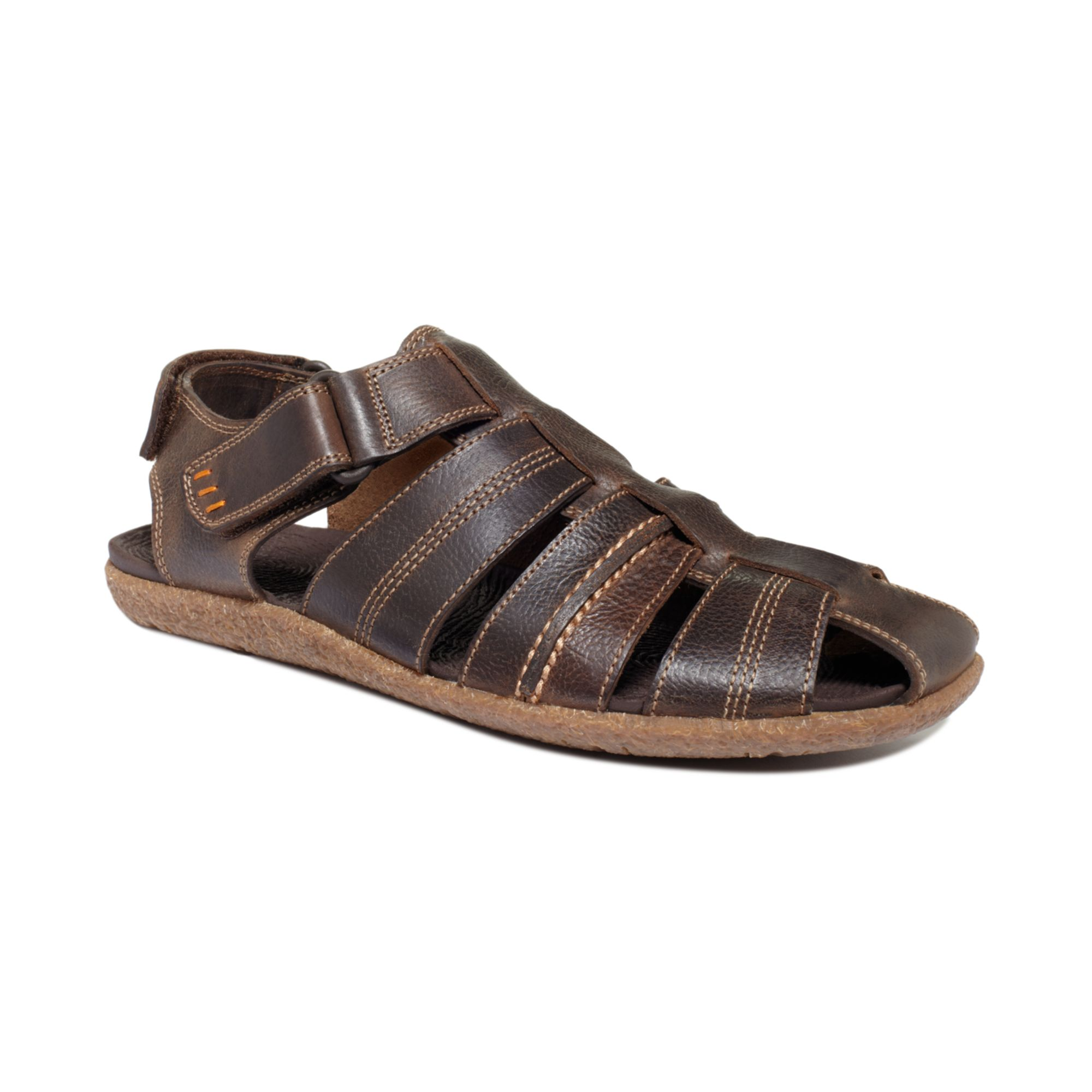 Hush Puppies Frame Closedtoe Fisherman Sandals In Brown
