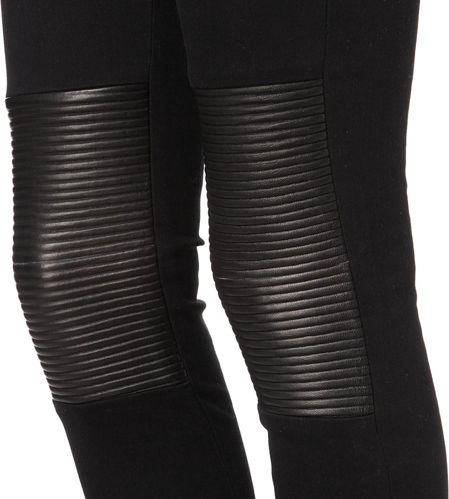 J Brand Nicola Leatherpatch Skinny Midrise Jeans in Black