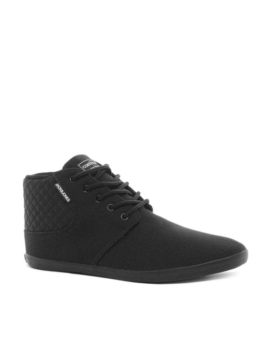 dr martens jack jones vertu canvas sneakers in black for men lyst. Black Bedroom Furniture Sets. Home Design Ideas
