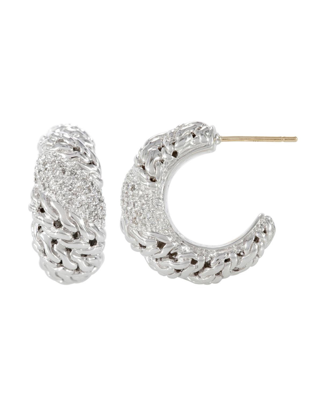 John hardy swirl hoop earrings in metallic lyst for John hardy jewelry earrings