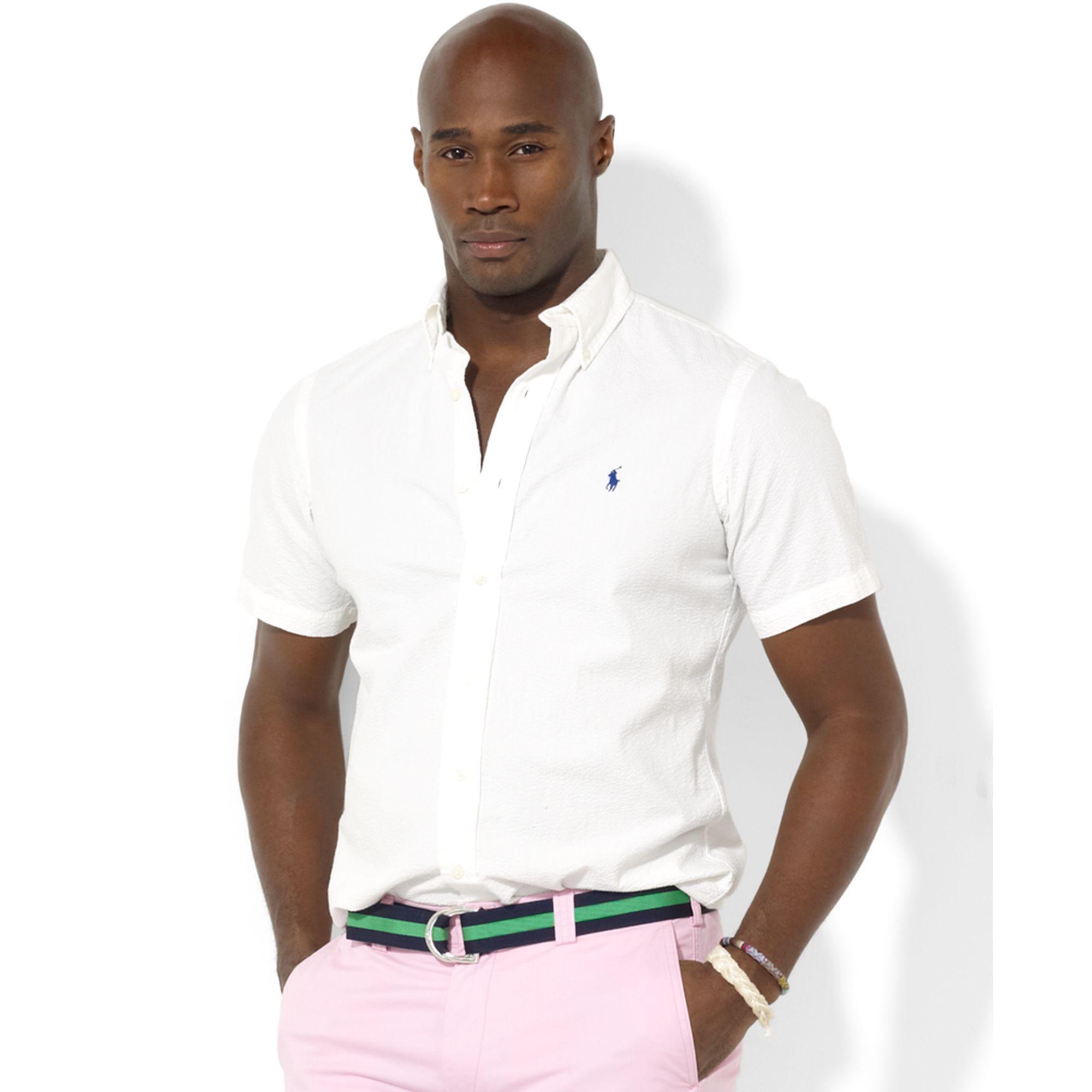 8ea8e779c Ralph Lauren Classic-fit Short-sleeved Seersucker Button-down Shirt ...