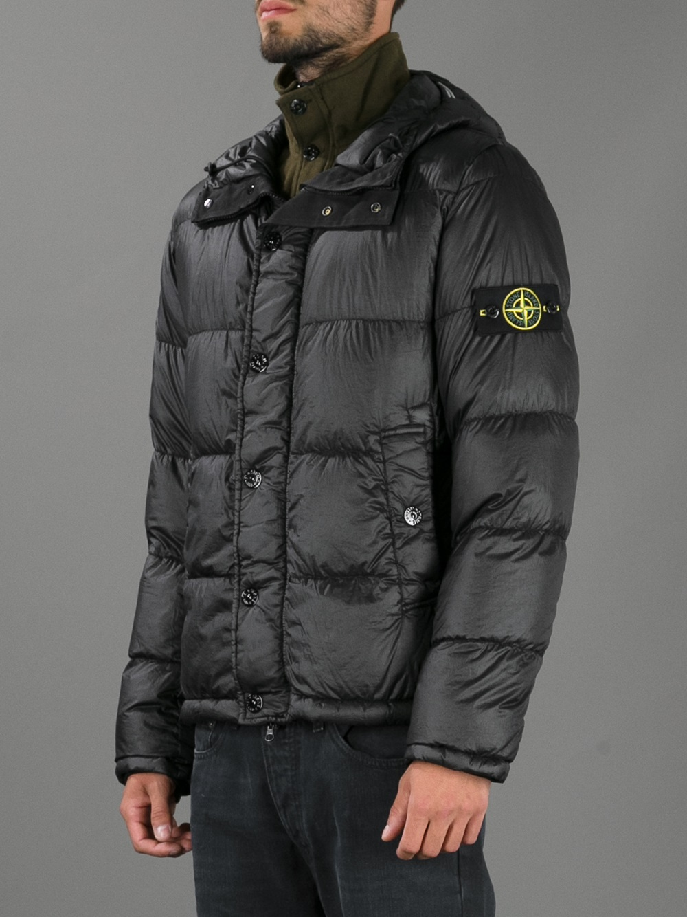 skate shoes entire collection quality products Stone Island Padded Jacket in Black for Men - Lyst