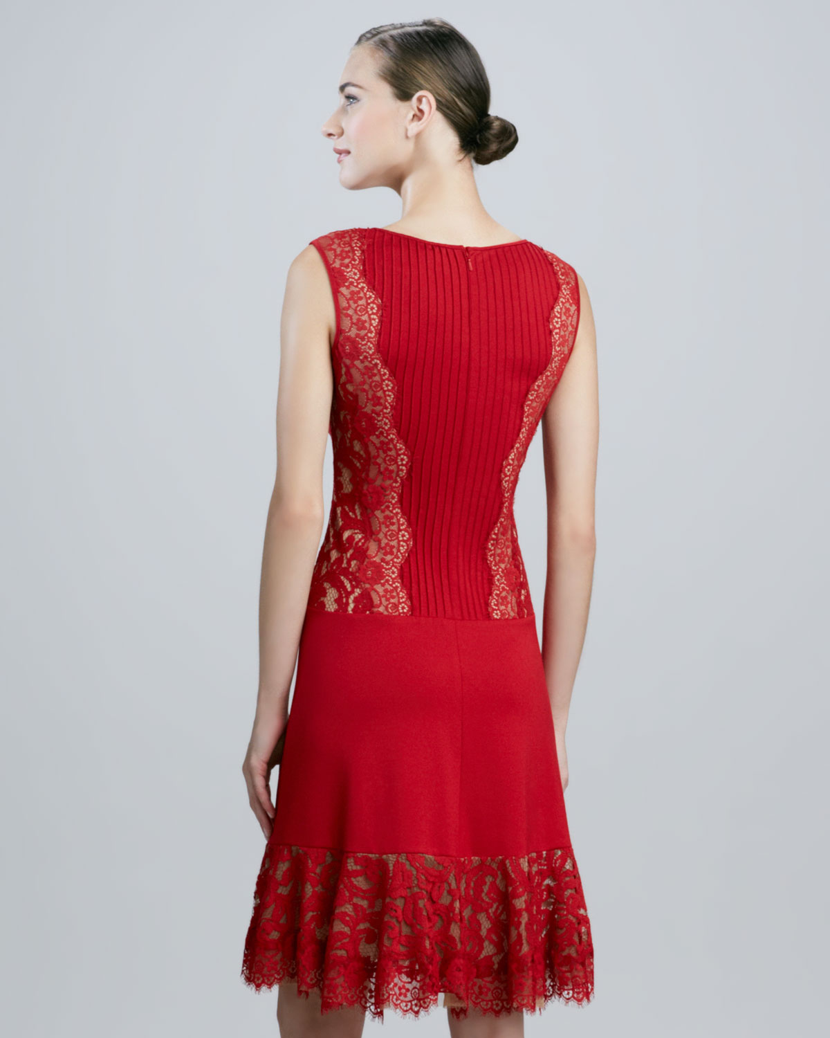 Tadashi shoji Sleeveless Cocktail Dress with Pintucked Bodice in ...