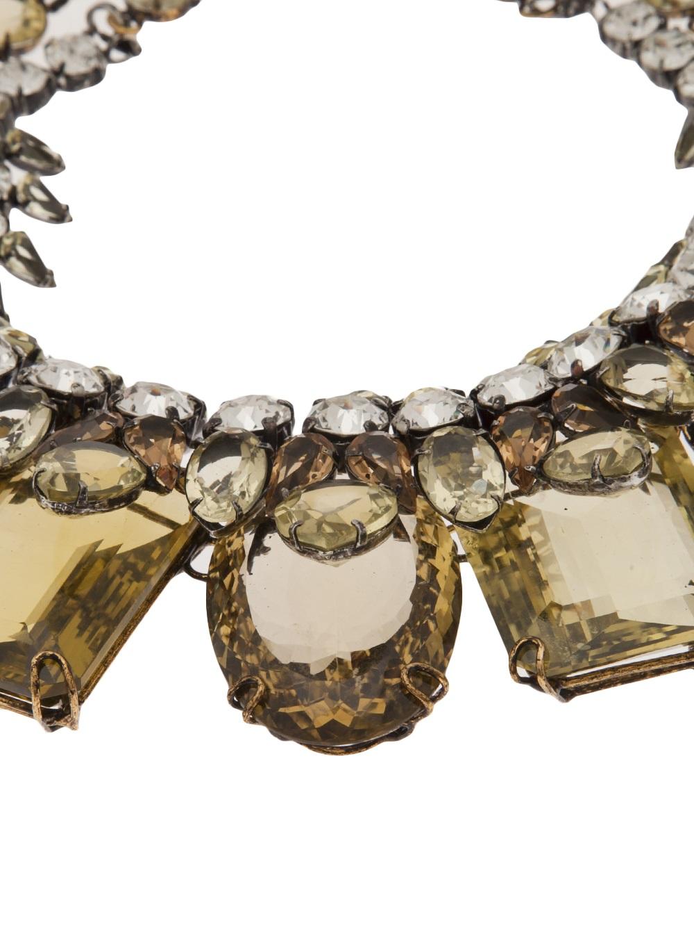 Iradj Moini Double Layer Necklace in Yellow & Orange (Metallic)
