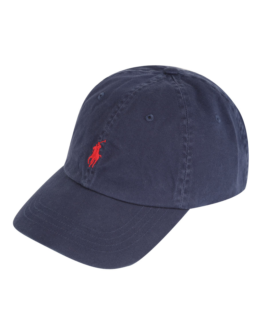 Lyst - Polo Ralph Lauren Navy and Red Logo Cap in Blue for Men 48fda20bff38
