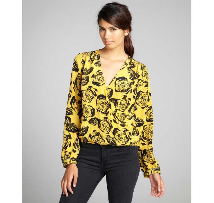 Gold And Black Blouse - My Blouses