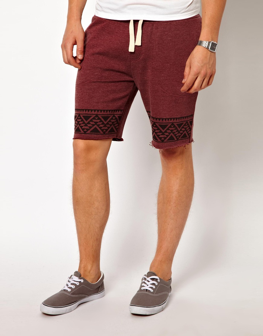 Asos Asos Jersey Shorts with Aztec Print in Purple for Men | Lyst