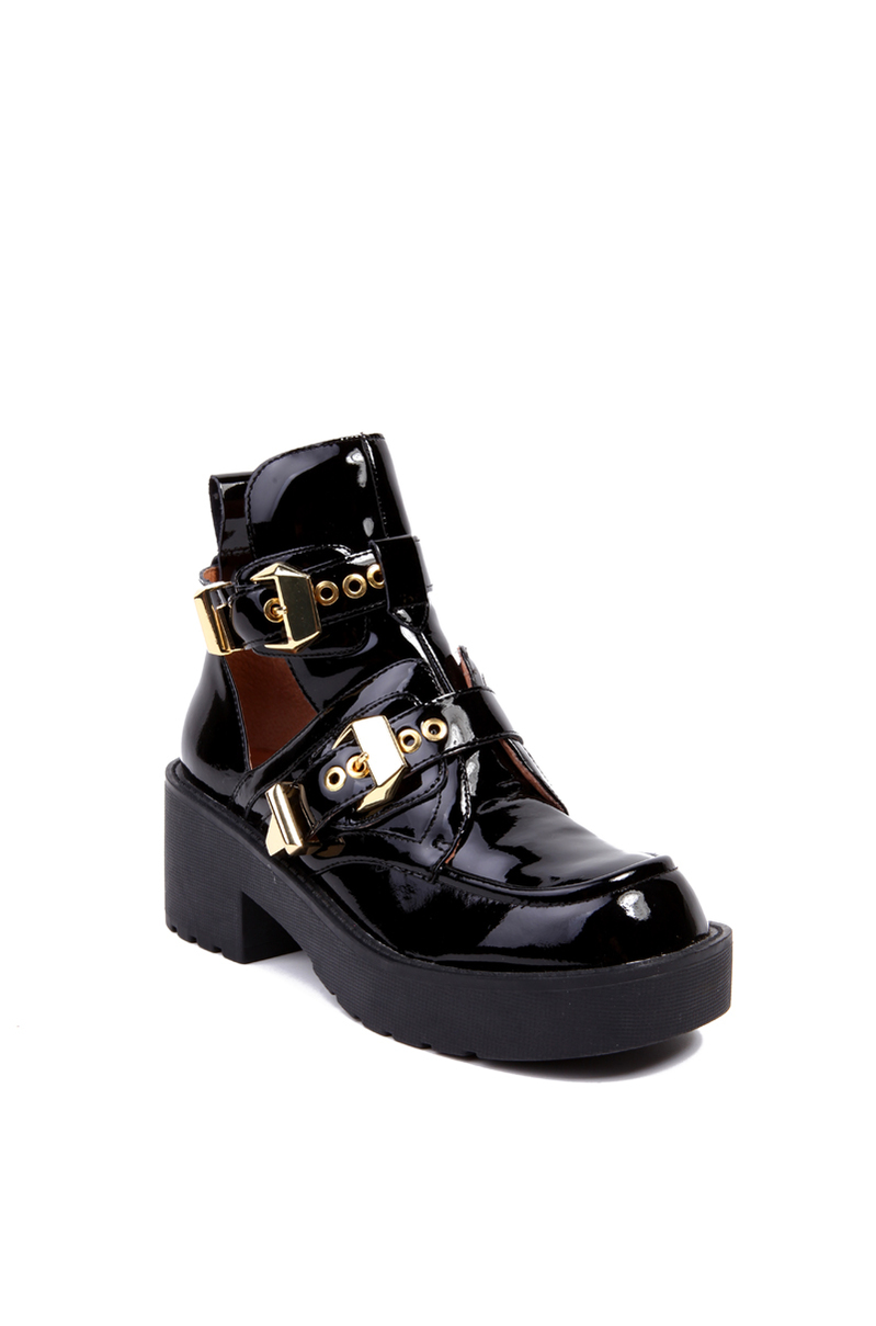 Ankle Support Shoes >> Jeffrey Campbell Coltrane Boot in Black Patent Gold (Black) - Lyst