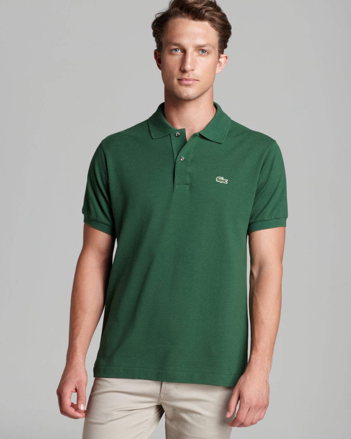 4a5a9628b029 Lyst - Lacoste Short Sleeve Piqué Polo Shirt - Classic Fit in Green ...