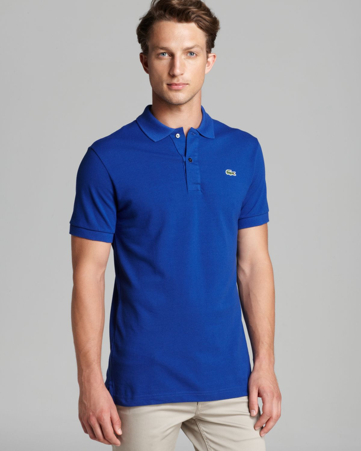 889ea066df Lacoste Short Sleeve Pique Polo Shirt - Classic Fit in Yellow for ...