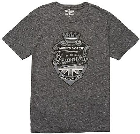 Lucky Brand Triumph Crest In Gray For Men Charcoal Lyst