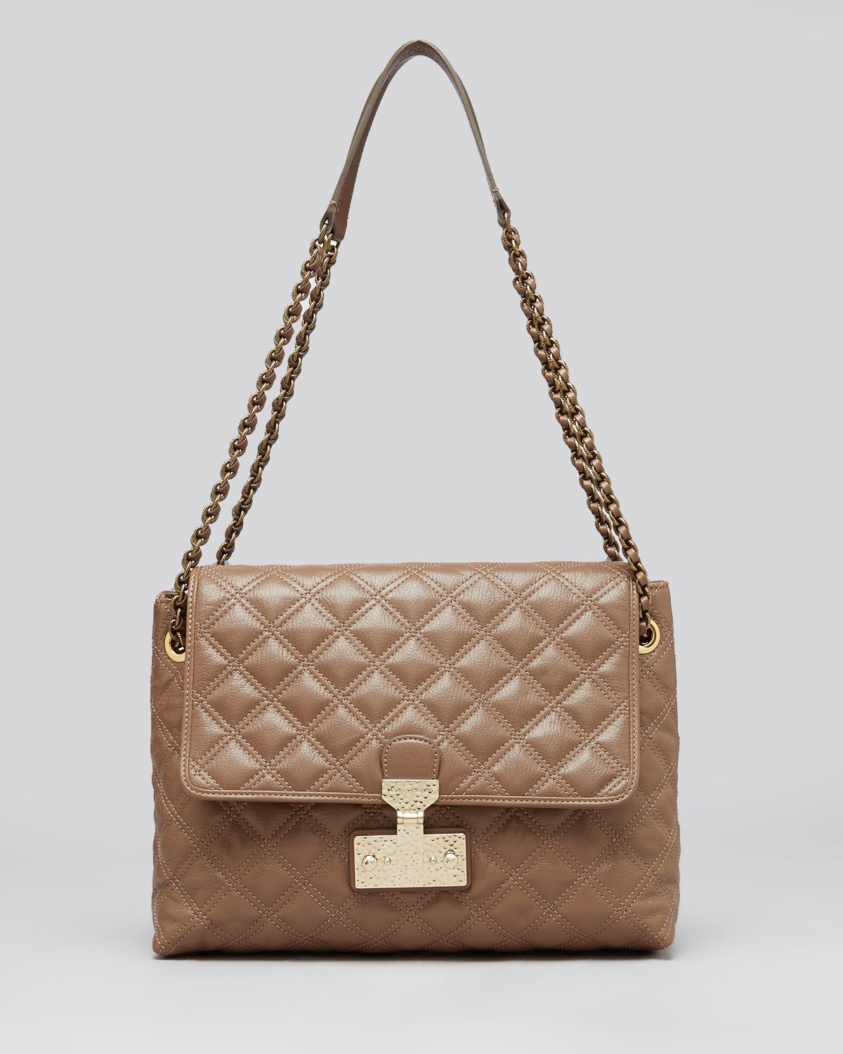 Marc jacobs Shoulder Bag Quilted Baroque Xl Single in Brown   Lyst : marc jacobs quilted bags - Adamdwight.com