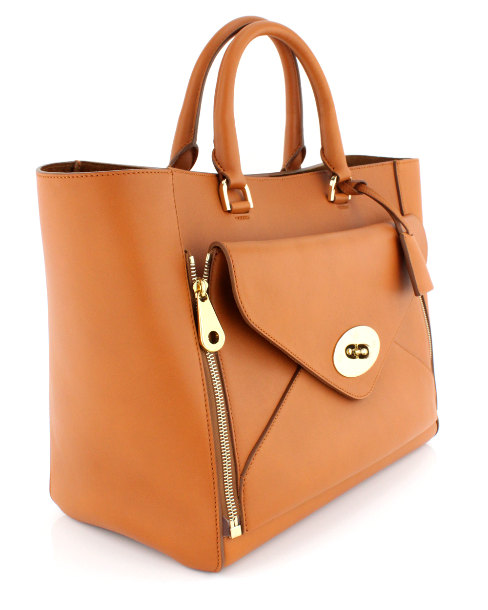 ec7aea54b556 Lyst - Mulberry Ginger Silky Calf Willow Tote in Brown
