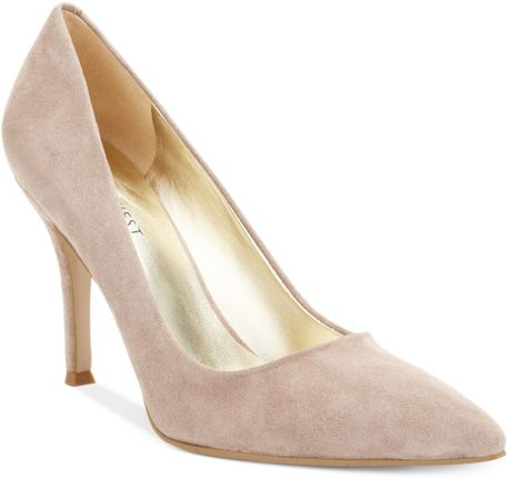 Nine West Flax Pumps in Beige (Heather Taupe Suede)