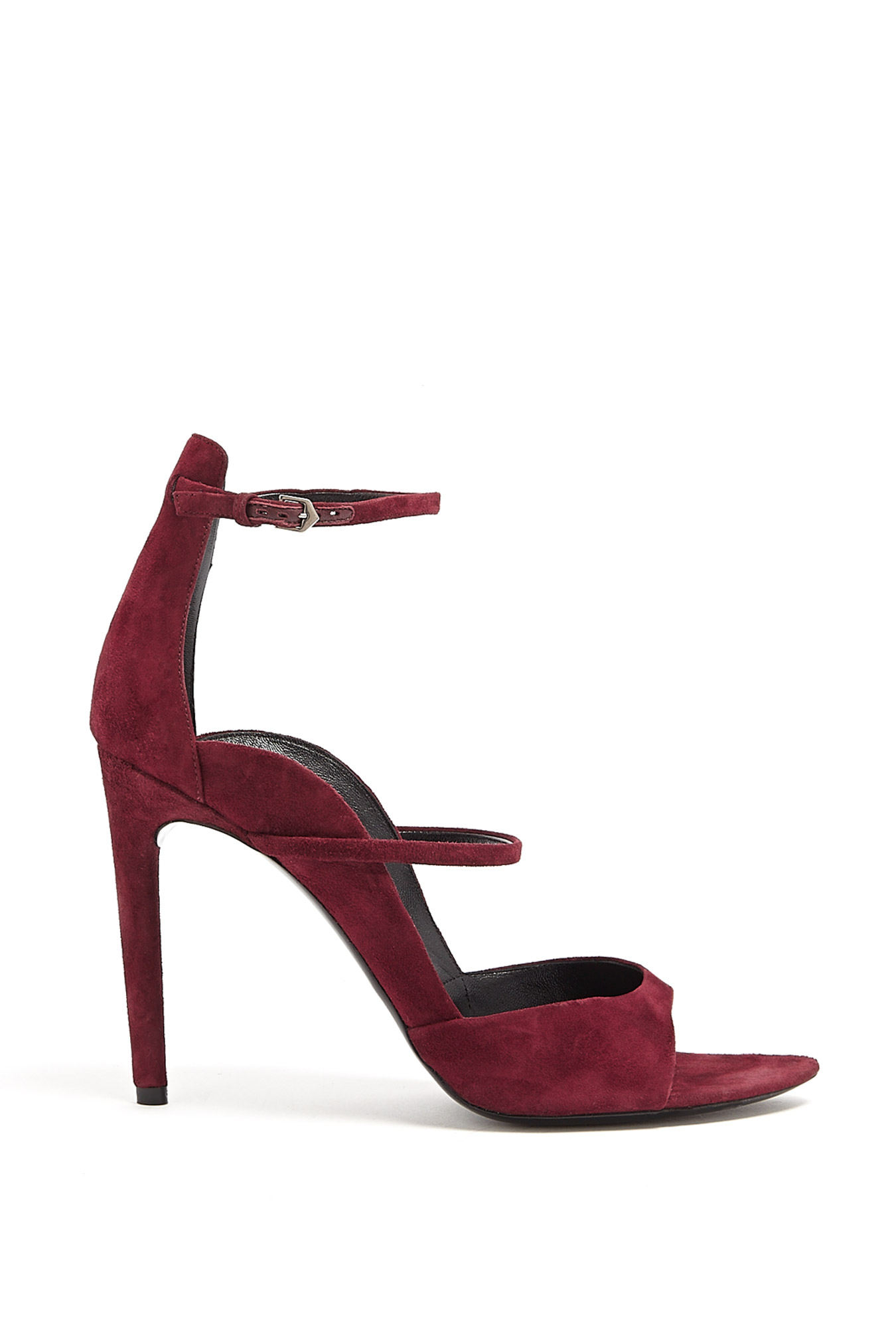 proenza schouler multi strap high heel sandals in red bordeaux lyst. Black Bedroom Furniture Sets. Home Design Ideas