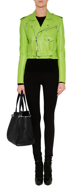 Ralph lauren collection Lime Green Glove Leather Jacket in Green ...