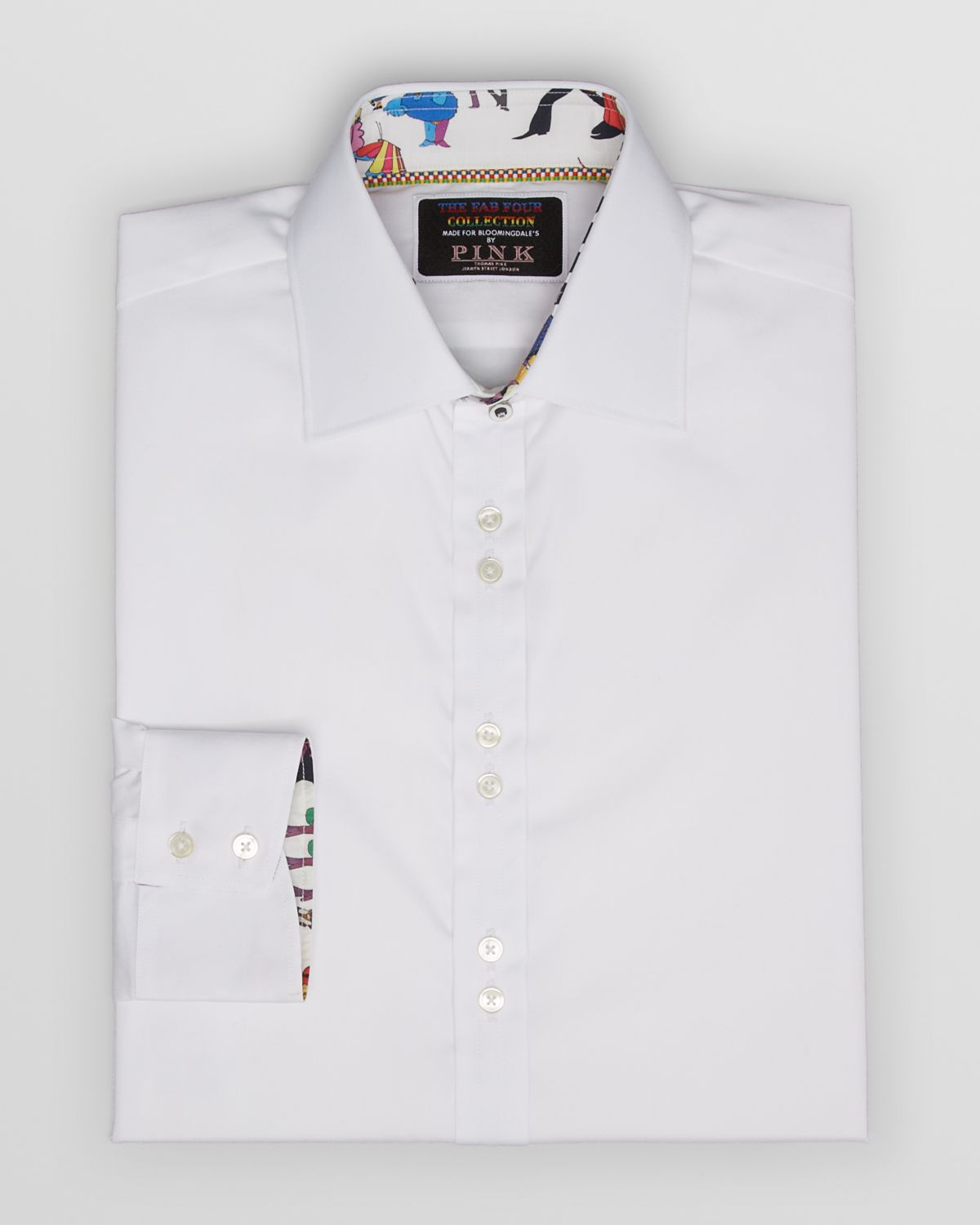 Thomas pink Fab Four Collection Solid Dress Shirt Contemporary Fit ...