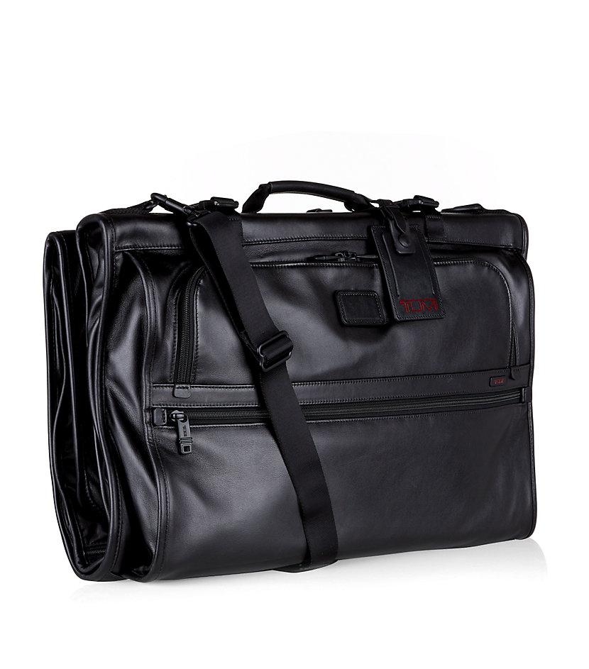 Tumi Tri Fold Carryon Leather Garment Bag In Black Lyst