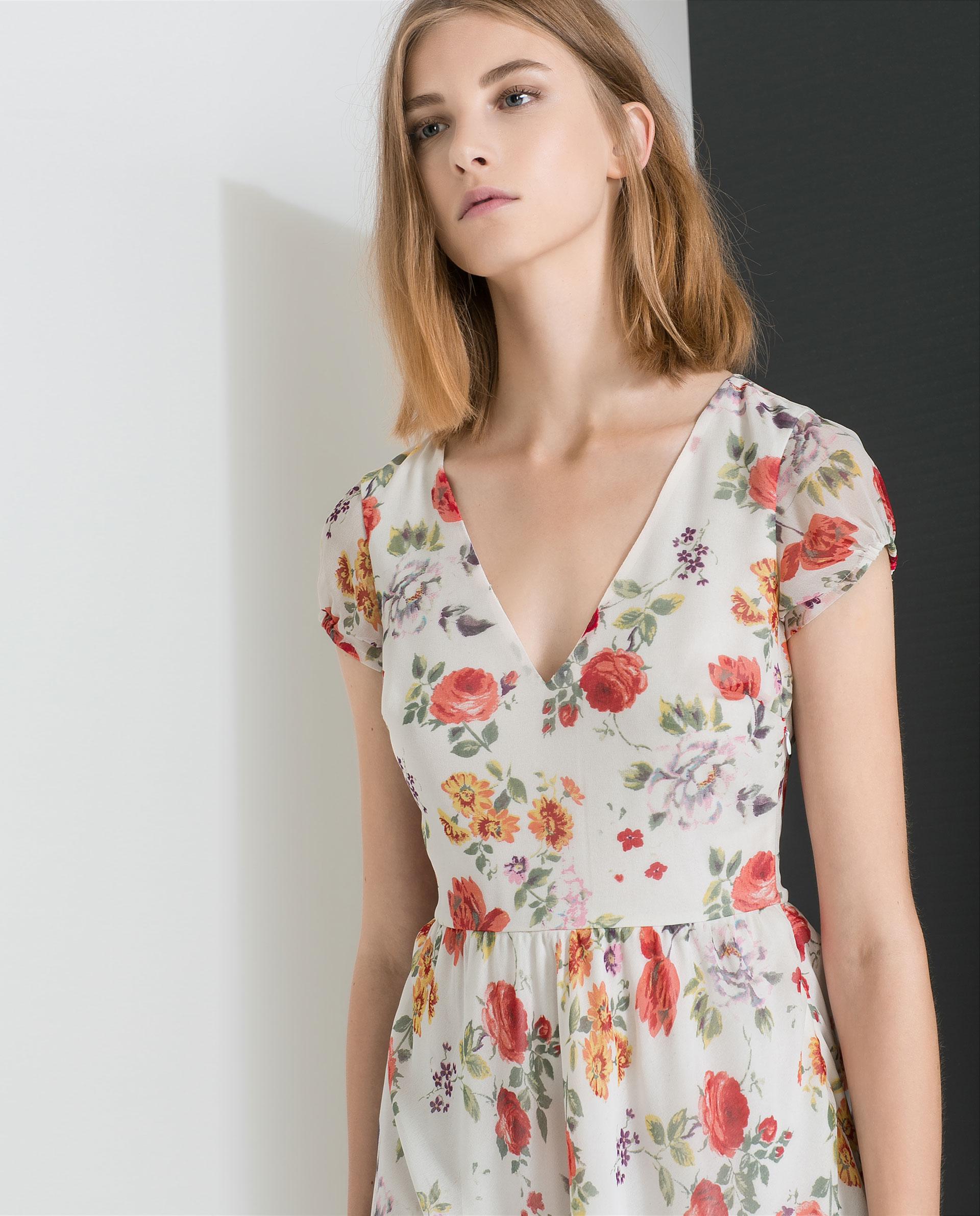 Zara Floral Dress M