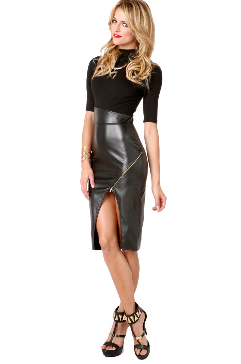 Pleather Skirt 84