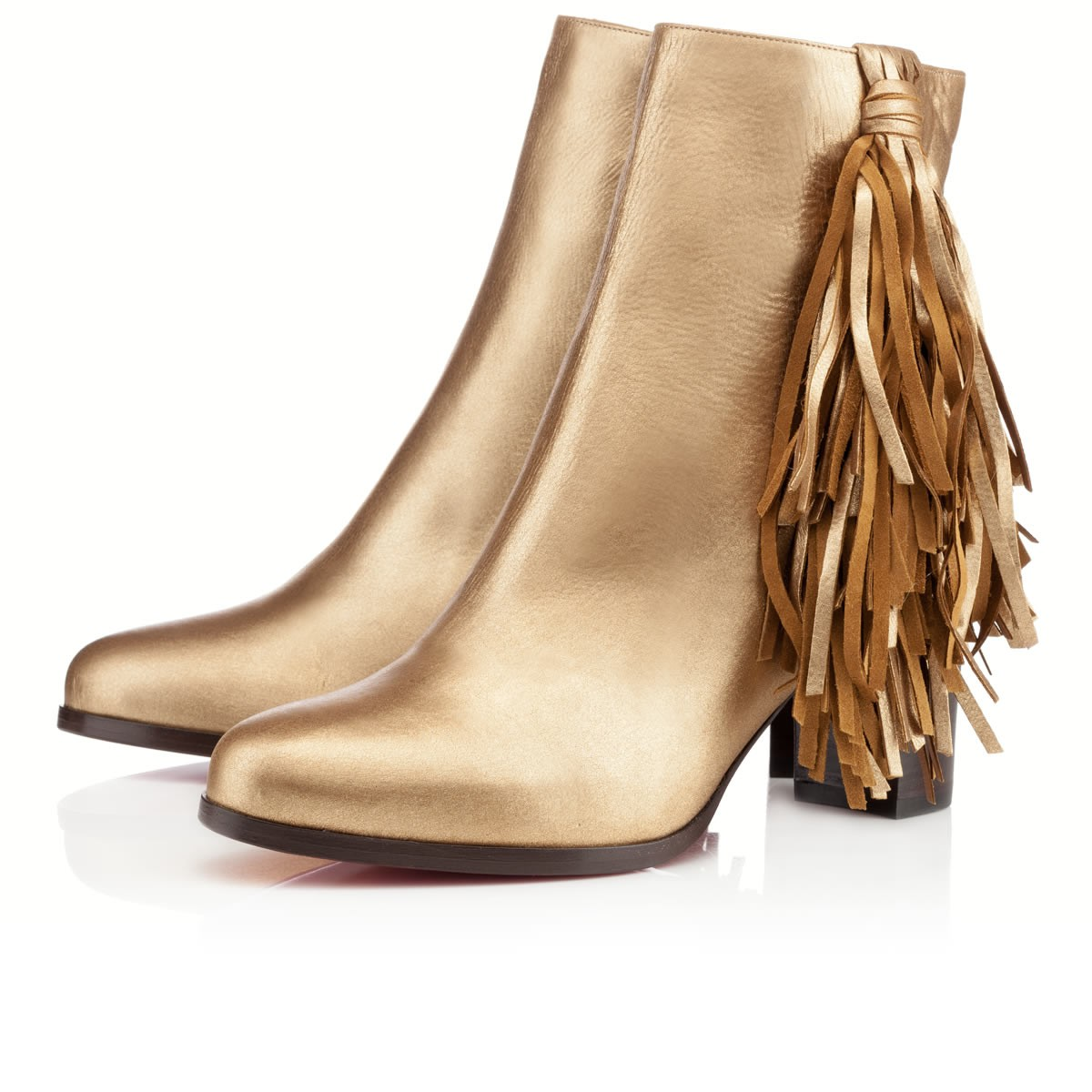 replica christian louboutin boots - christian louboutin Jimmynetta ankle boots Black leather tassel ...