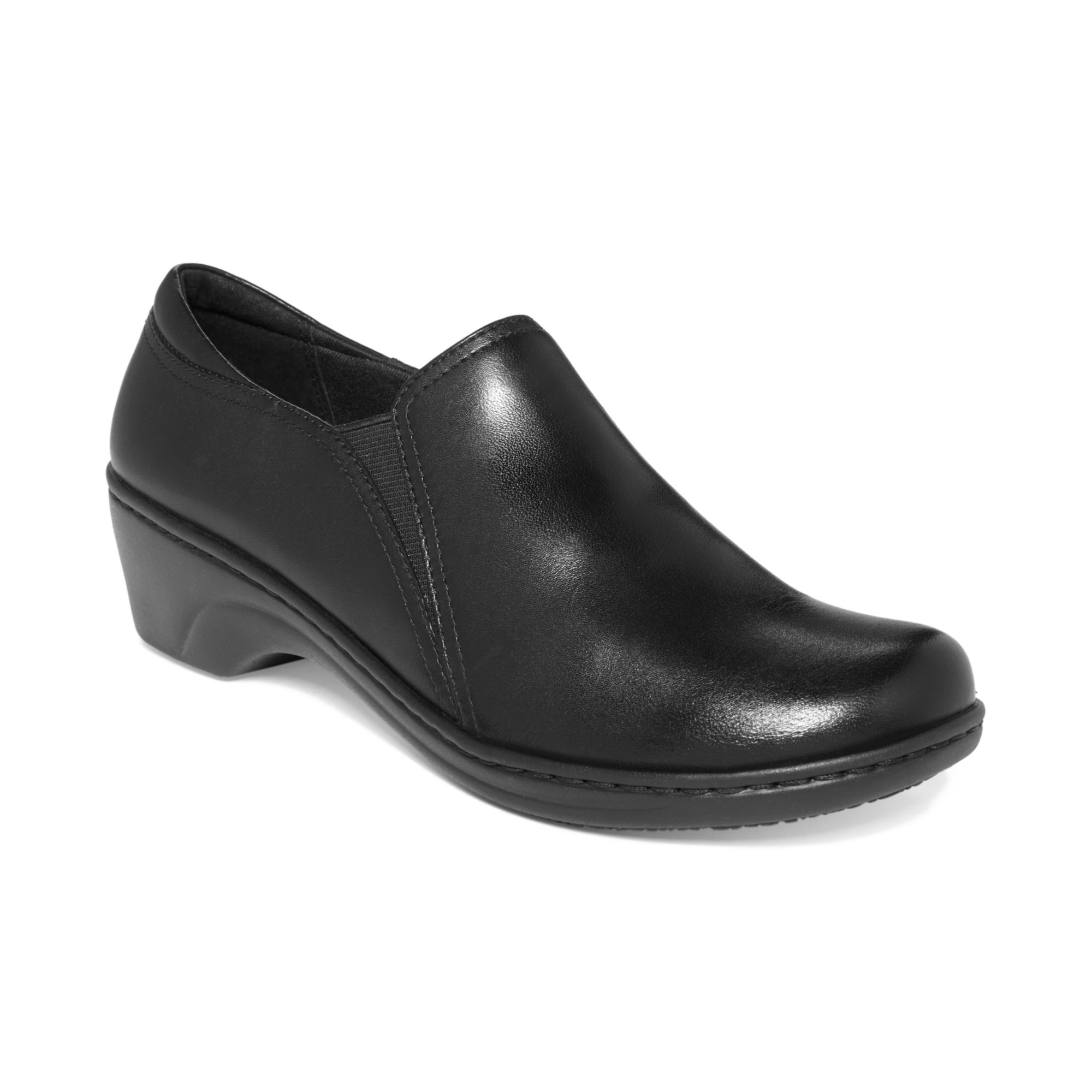 Clarks Clarks Womens Shoes Grasp Chime Non Slip Flats In